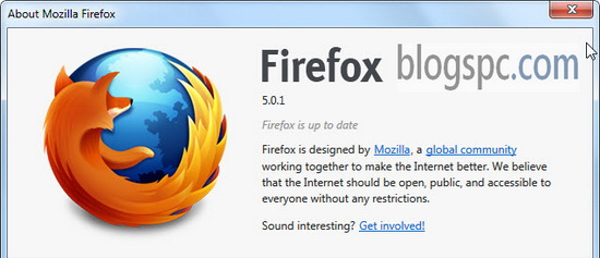 Firefox 5.0.1 Update for Mac OSX 10.7 Users