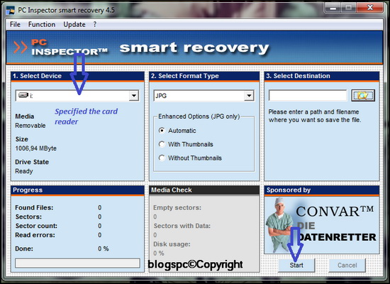 Recovery Photos Program with PC Inspector