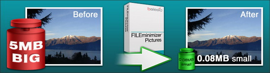 JPEG file compression FileMinimizer