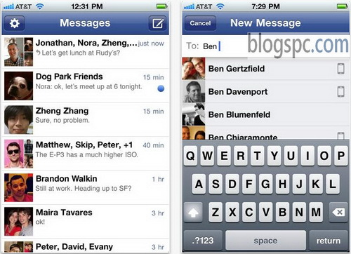 Facebook Chat Application for Mobile
