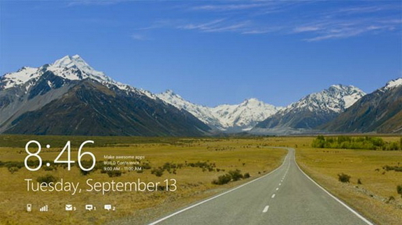 Windows 8 Lock Screen Shoot