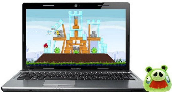 Angry Birds Play on Notebook