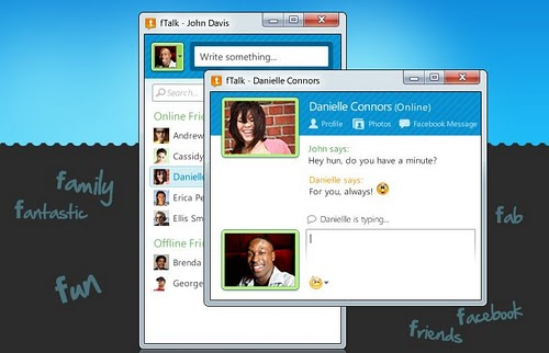 fTalk is a Facebook Chat Client