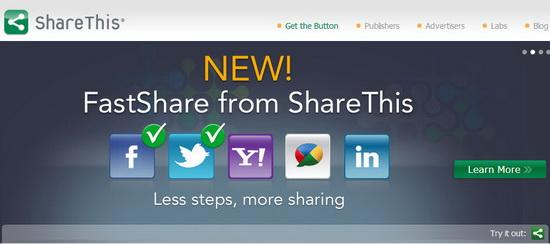 Social Sharing Widget Sharethis