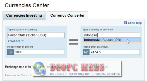 Currency Converter Yaho Finance