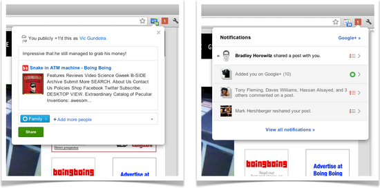 Best Google Plus Extension - Google+ Notification and Google+1 button