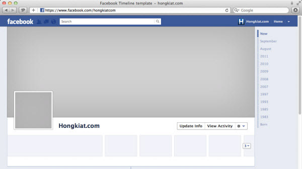 Facebook Timeline Banner Template Facebook Timeline Psd Template