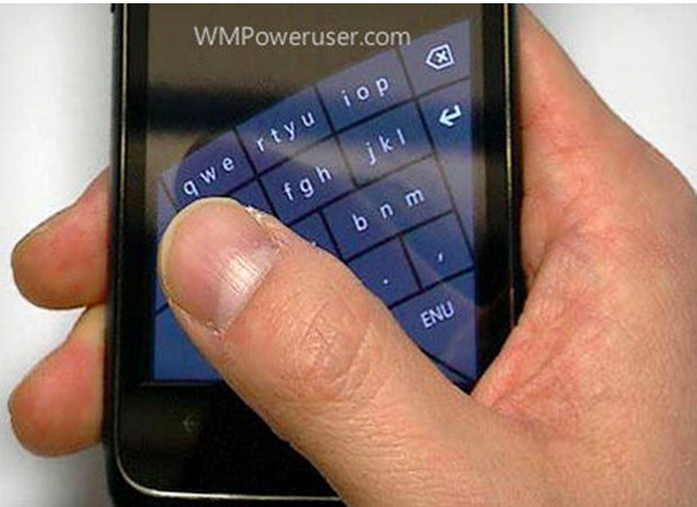 Leaked Windows Phone Keyboard