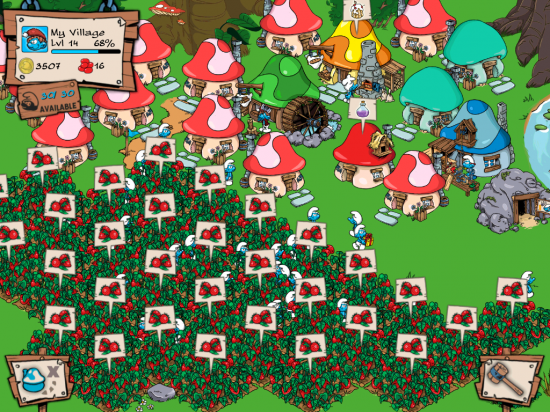 smurf's village ipad app