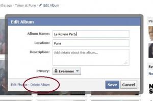 how to delete facebook photos permanently