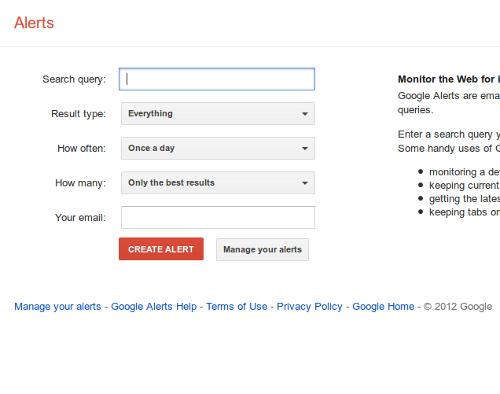 10 - Google Alerts