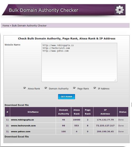 13 - Bulk Domain Authority Checker
