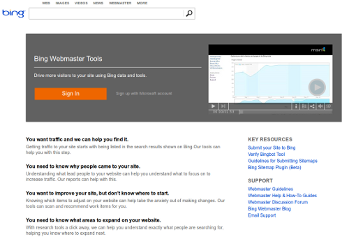 17 - Bing Webmaster Tools