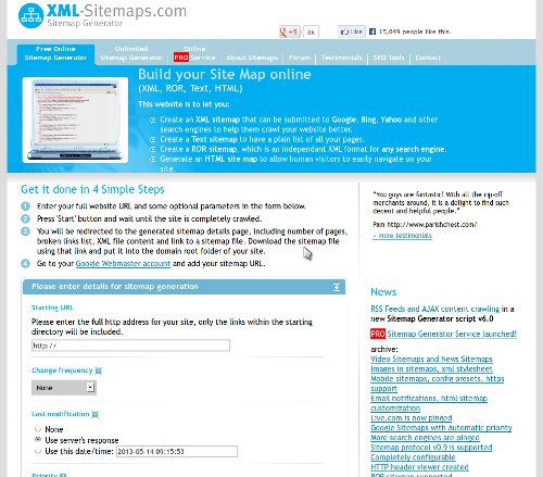 24 - XML Sitemaps Generator