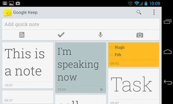 Google Keep for Android App