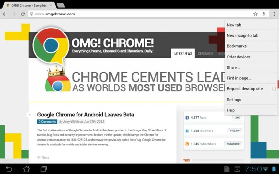 Chrome for Android App
