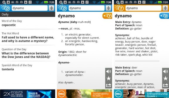 dictionary.com for android