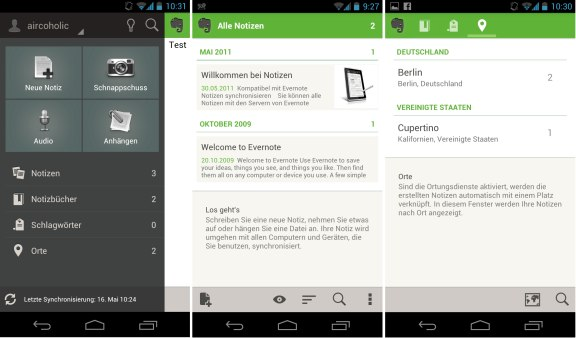 Evernote for Android App