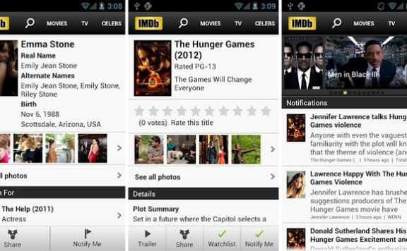 imdb app for android