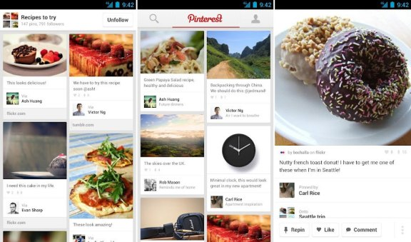 Pintrest Android App