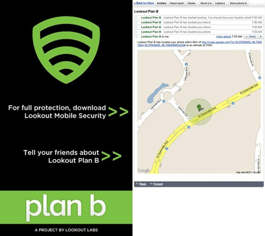 plan-b track android smartphone